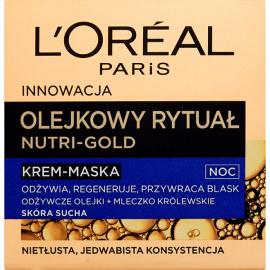 L'OREAL NUTRI GOLD OLEJKOWY KREM - MASKA NA NOC DLA SKÓRY SUCHEJ 50 ML