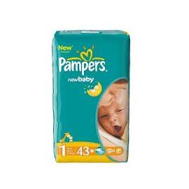 PAMPERS 1 NEW BABY-DRY 2-5 KG PIELUCHY 43 SZT