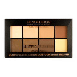 MAKEUP REVOLUTION ULTRA PRO HD CREAM CONTOUR LIGHT-MEDIUM ZESTAW PUDRÓW KREMOWYCH