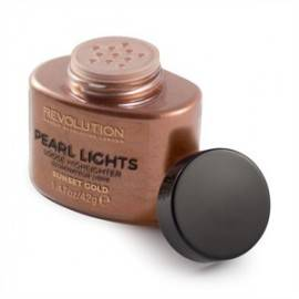 MAKEUP REVOLUTION PEARL LIGHTS LOOSE HIGHLIGHTER PUDER SYPKI ROZŚWIETLAJĄCY SUNSET GOLD 25G