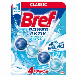 BREF POWER ACTIV ZAWIESZKA DO WC 50G OCEAN dokładnie czyści.