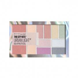 MAYBELLINE CITY KISS 1 URBAN LIGHT PALETA CIENI+RÓŻ+ROZŚWIETLACZ