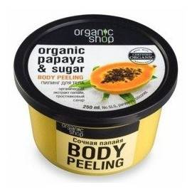 ORGANIC SHOP PEEL/C 250ML PAPAYA