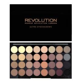 MAKEUP REVOLUTION  PALETA 32 CIENI DO POWIEK FLAWLESS MATTE