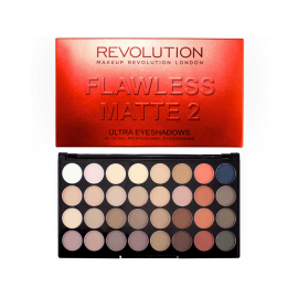 MAKEUP REVOLUTION  PALETA 32 CIENI DO POWIEK FLAWLESS MATTE 2