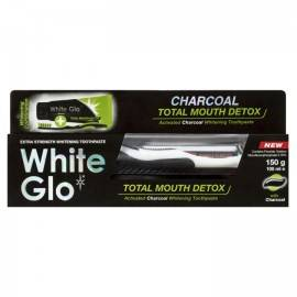 WHITE GLO CHARCOAL TOTAL MOUTH DETOX ELIMINATOR BAKTERII 100G