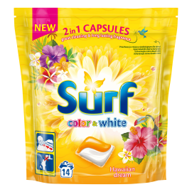 SURF COLOR & WHITE HAWAIIAN DREAM KAPSUŁKI DO PRANIA 14SZTUK