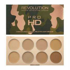 MAKEUP REVOLUTION PALETKA CAMOUFLAGE ULTRA PRO HD  LIGHT MEDIUM