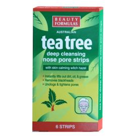 BEAUTY FORMULAS PASKI NA NOS OCZYSZCZAJACE TEA TREE 6SZT
