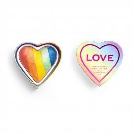 MAKEUP REVOLUTION X PRIDE ROZŚWIETLACZ DO TWARZY I HEART LOVE