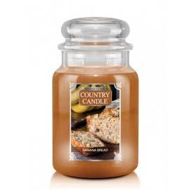 COUNTRY CANDLE ŚWIECA  BANANA BREAD 680G