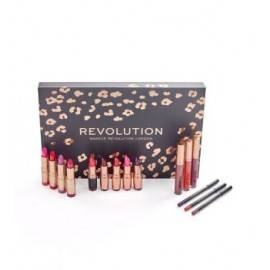 MAKEUP REVOLUTION ZESTAW LIP REVOLUTION RED