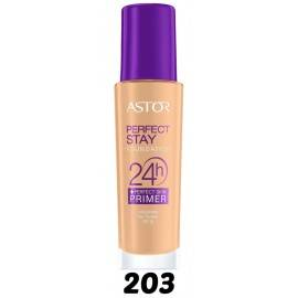 ASTOR PERFECT STAY PODKŁAD + PERFECT SKIN PRIMER 203 PEACHY 30ML