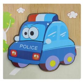 PUZZLE DREWNIANE POLICYJNE AUTO TG50030