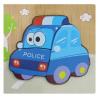TG50030 PUZZLE DREWNIANE UKŁADANKA POLICJA AUTO POJAZD