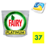 FAIRY PLATINUM ALL IN ONE LEMON KAPSUŁKI DO ZMYWARKI 37SZTUK
