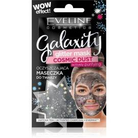 EVELIN GLITTER MASK.BLACK OCZYSZ.D/TW