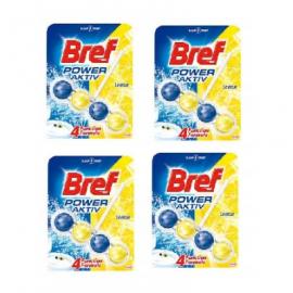 BREF POWER ACTIV 4X ZAWIESZKI DO WC 50G LEMON