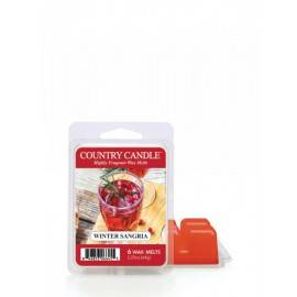 COUNTRY CANDLE WOSK ZAPACHOWY  WINTER SANGRIA 64G