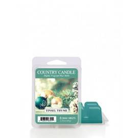 COUNTRY CANDLE WOSK ZAPACHOWY  TINSEL THYME 64G