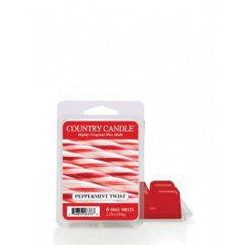 COUNTRY CANDLE WOSK ZAPACHOWY  PEPPERMINT TWIST 64G