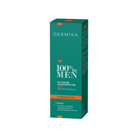 DERMIKA 100% FOR MEN ŻEL & PEELING & MASKA MENTOLOWA – 3 W 1 POWERSTARTER NA DZIEŃ , 100 ML