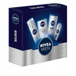 NIVEA ZESTAW MEN SILVER BALSAM 100ML+ŻEL  250ML+ŻEL DO GOLENIA 200ML+DEO ROLL-ON 50ML