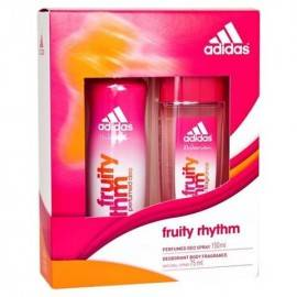 ADIDAS ZESTAW FRUITY RHYTM DEZODORANT 75 ML SPRAY GLASS + DEZODORANT 150 ML SPRAY