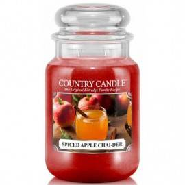 COUNTRY CANDLE ŚWIECA ZAPACHOWA 652G SPICED APPLE CHAI-DER