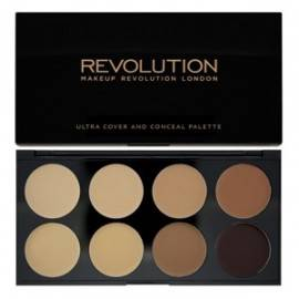 MAKEUP REVOLUTION ULTRA COVER AND CONCEALER PALETTE KOREKTORY MEDIUM-DARK