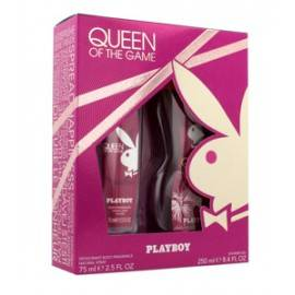 PLAYBOY ZESTAW QUEEN OF THE GAME DEZODORANT NATURALNY SPRAY 75ML+ŻEL POD PRYSZNIC 250ML