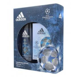 ADIDAS UEFA CHAMPIONS LEAGUE ZESTAW DEZODORANT SPRAY 150ML+WODA PO GOLENIU 50ML)
