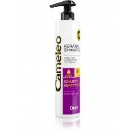 DELIA CAMELEO SZAMPON KERATYNOWY WŁOSY KRĘCONE 250 ML delikatnie myje włosy , nie naruszając ich bariery ochronnej .